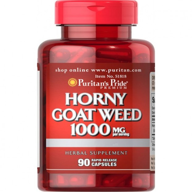 Horny Goat Weed 1000 mg  90 Rapid Release Capsules