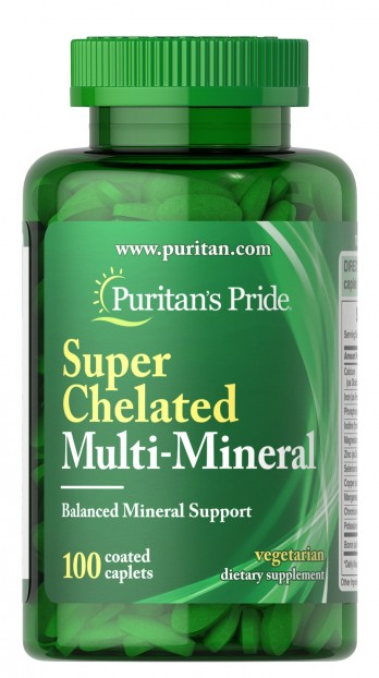 Super Chelated Multi Mineral with Zinc 100 Tabs