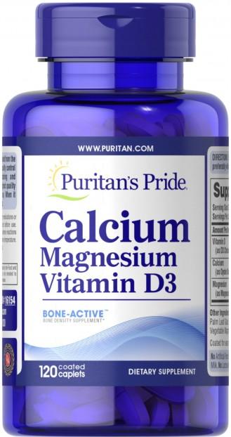 Calcium Magnesium with Vitamin D 120 Caplets