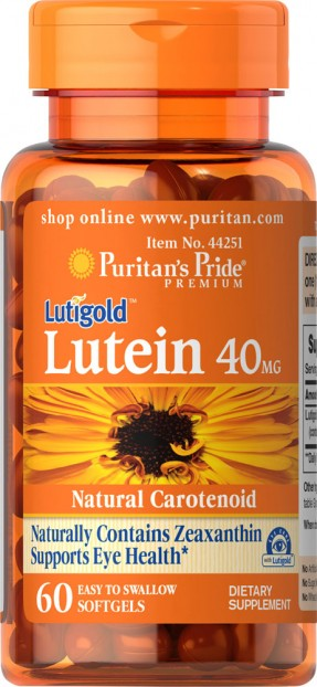 Lutein 40 mg with Zeaxanthin 60 softgels