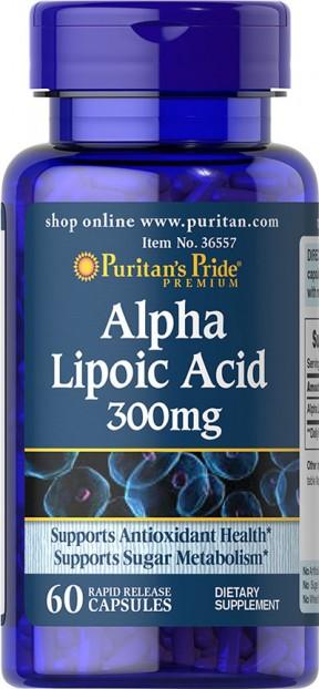 Alpha Lipoic Acid 300 mg 60 Softgels