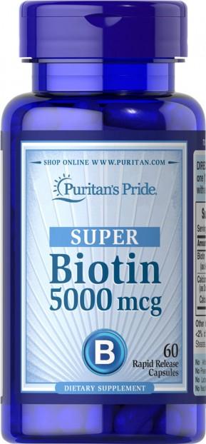 Biotin 5000 mcg 60 Capsules