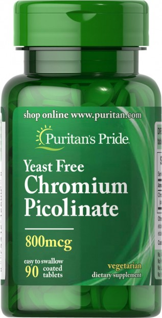 Chromium Picolinate 800 mcg Yeast Free 90 Tablets
