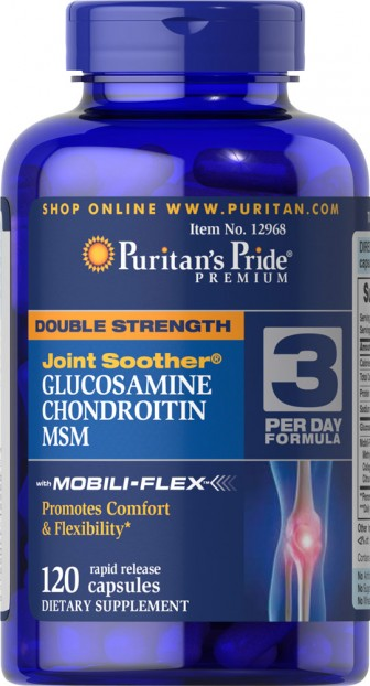 Double Strength Glucosamine, Chondroitin & MSM Joint Soother® 120 Capsules