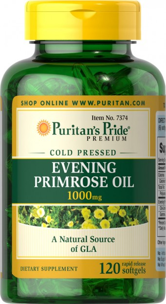 Evening Primrose Oil 1000 mg with GLA   120 Softgels  EXP 31-12-2020