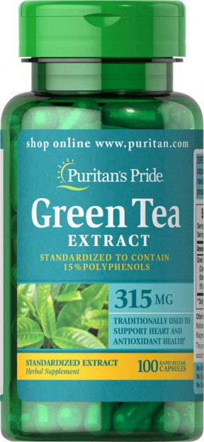 Green Tea Standardized Extract 315 mg 100 Capsules