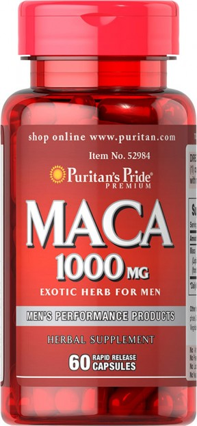 Maca 1000 mg Exotic Herb for Men 60 Capsules