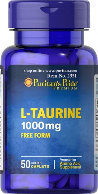 Taurine 1000 mg 50 Caplets