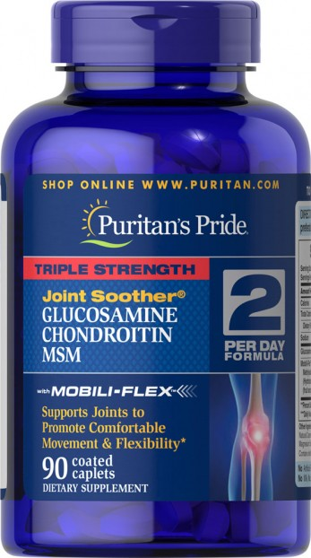 Triple Strength Glucosamine, Chondroitin & MSM Joint Soother® 90 Caplets