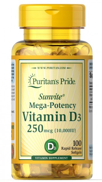 Vitamin D3 10,000 IU 100 Softgels