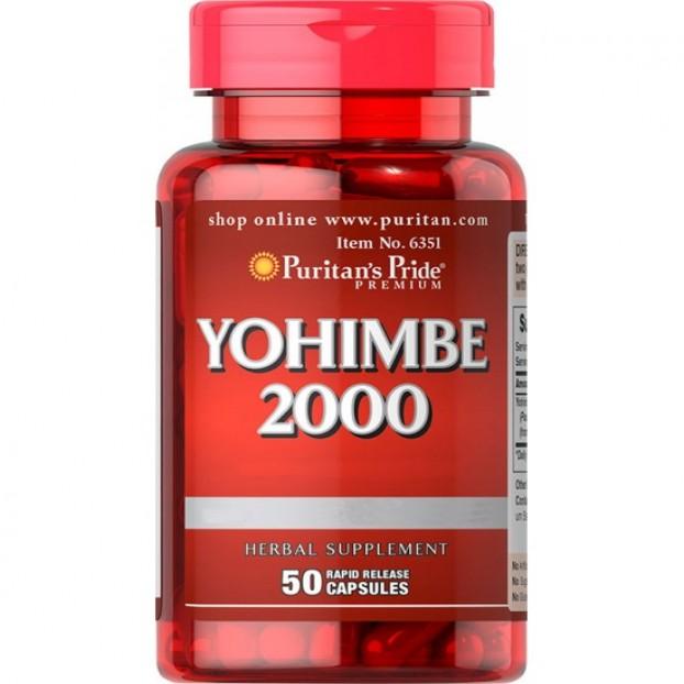 Yohimbe 2000 mg 50 Capsules