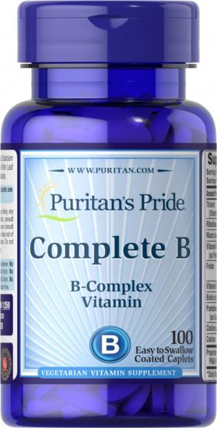 Complete B Vitamin B Complex 100 Caplets