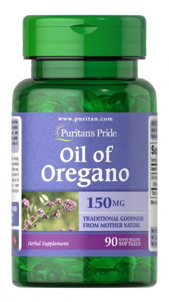 Oil of Oregano 150 mg 90 softgels