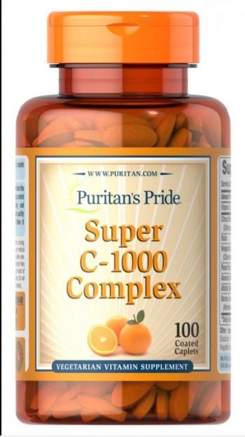 Super C-1000 Complex 100 Coated Caplets
