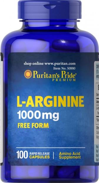 L-Arginine 1000 mg 100 Capsules