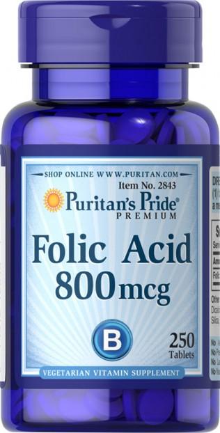 Folic Acid 800 mcg  250 Tablets EXP 30-11-2020