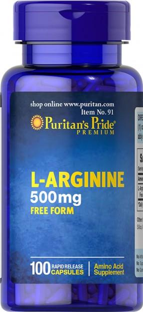 L-Arginine 500 mg 100 Capsules