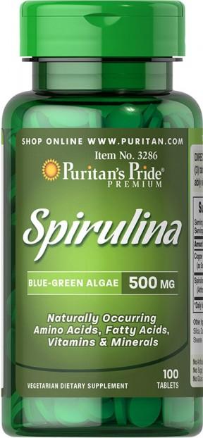 Spirulina 500 mg 100 Tablets