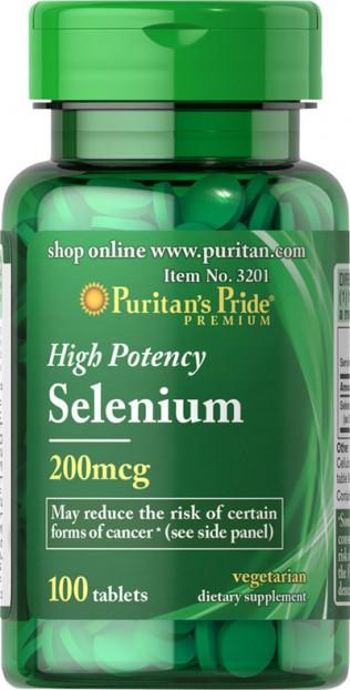 High Potency Selenium 200 mcg 100 Softgels
