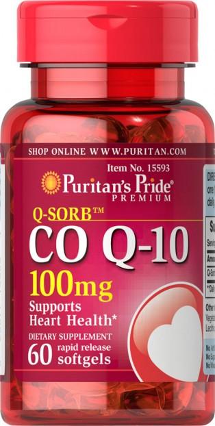Q-SORB™ Co Q-10 100 mg 60 Rapid Release Softgels EXP 11-2021