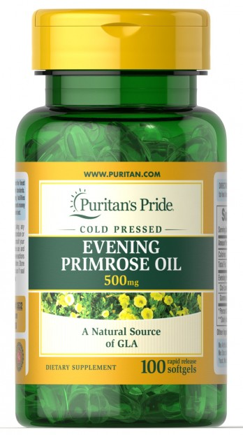 Evening Primrose Oil 500 mg with GLA 100 Softgels