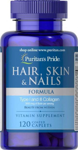 Hair, Skin & Nails Formula 120 Caplets