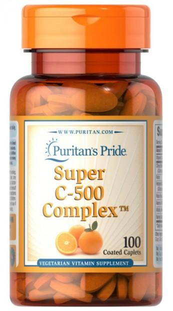 Vitamin C-500 Complex 100 Coated Caplets