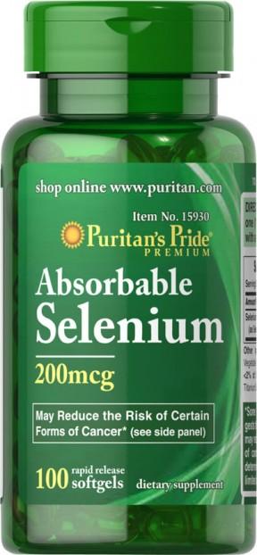 Absorbable Selenium 200 mcg 100 Softgels