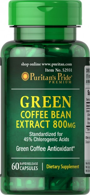 Green Coffee Bean Extract 800mg 60 capsules