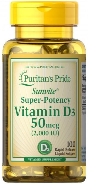Vitamin D3 2000 IU 100 Softgels