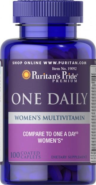 Women's One Daily Multivitamins 100 Caplets