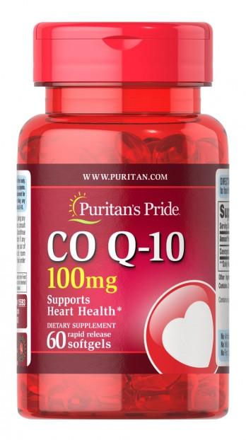 Q-SORB™ Co Q-10 100 mg 60 Rapid Release Softgels