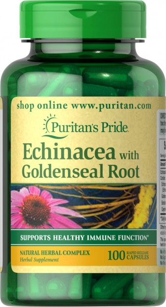Echinacea with Goldenseal Root 450 mg 100 Capsules