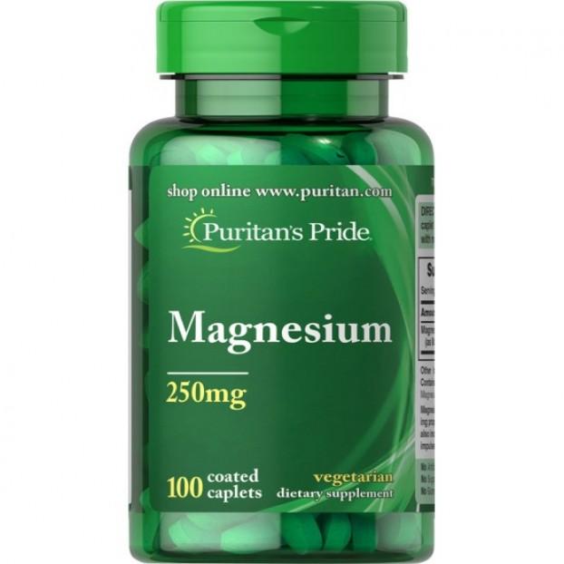 Magnesium 250 mg 100 Caplets