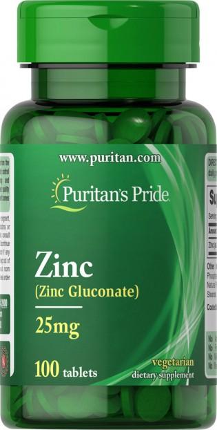 Zinc 25 mg 100 Tablets