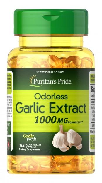 Garlic Odorless 1000 mg 100 softgels