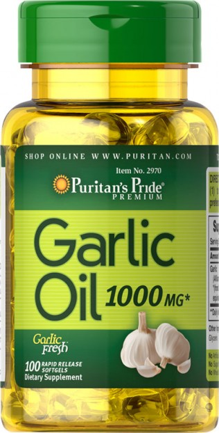 Garlic Oil 1000 mg 100 Rapid Release Softgels
