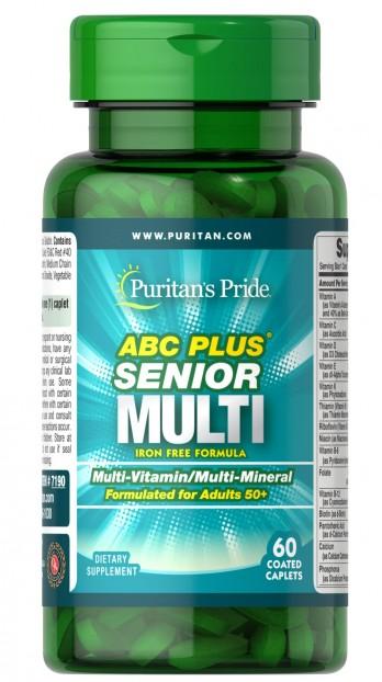 ABC Plus® Senior Multivitamin Multi-Mineral Formula 60 Caplets