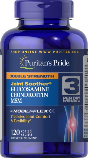 Double Strength Glucosamine, Chondroitin & MSM Joint Soother® 120 Caplets
