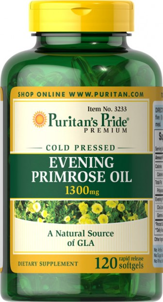 Evening Primrose Oil 1300 mg with GLA 120 Softgels
