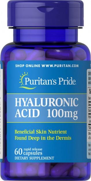 Hyaluronic Acid 100 mg  60 Capsules