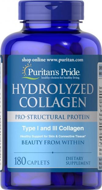 Hydrolyzed Collagen 1000 mg 180 Caplets