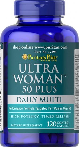 Ultra Woman™ 50 Plus Multi-Vitamin 120 Coated Caplets