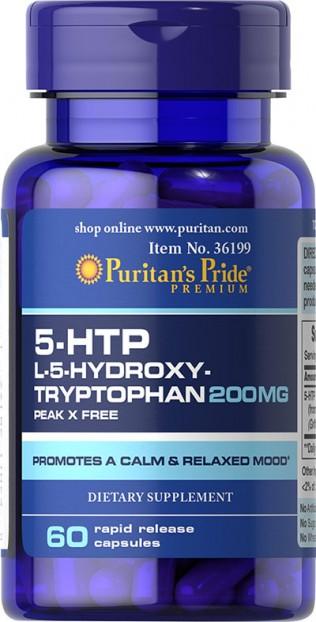5HTP 200 mg (Griffonia Simplicifolia) 60 Capsules