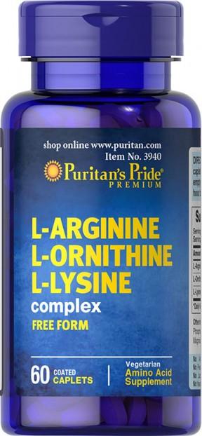 L-Arginine L-Ornithine L-Lysine 60 capsules